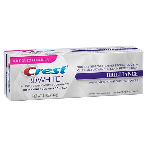 bieliaca zubná pasta Crest Brilliance