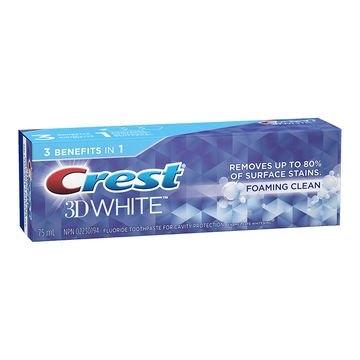 Bieliaca zubná pasta Crest 3D White FOAMING CLEAN