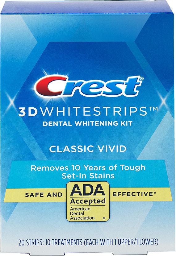 Bieliace pásiky Crest 3D White Vivid