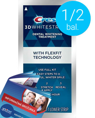 Polovičné balenie Crest 3D White Supreme FlexFit