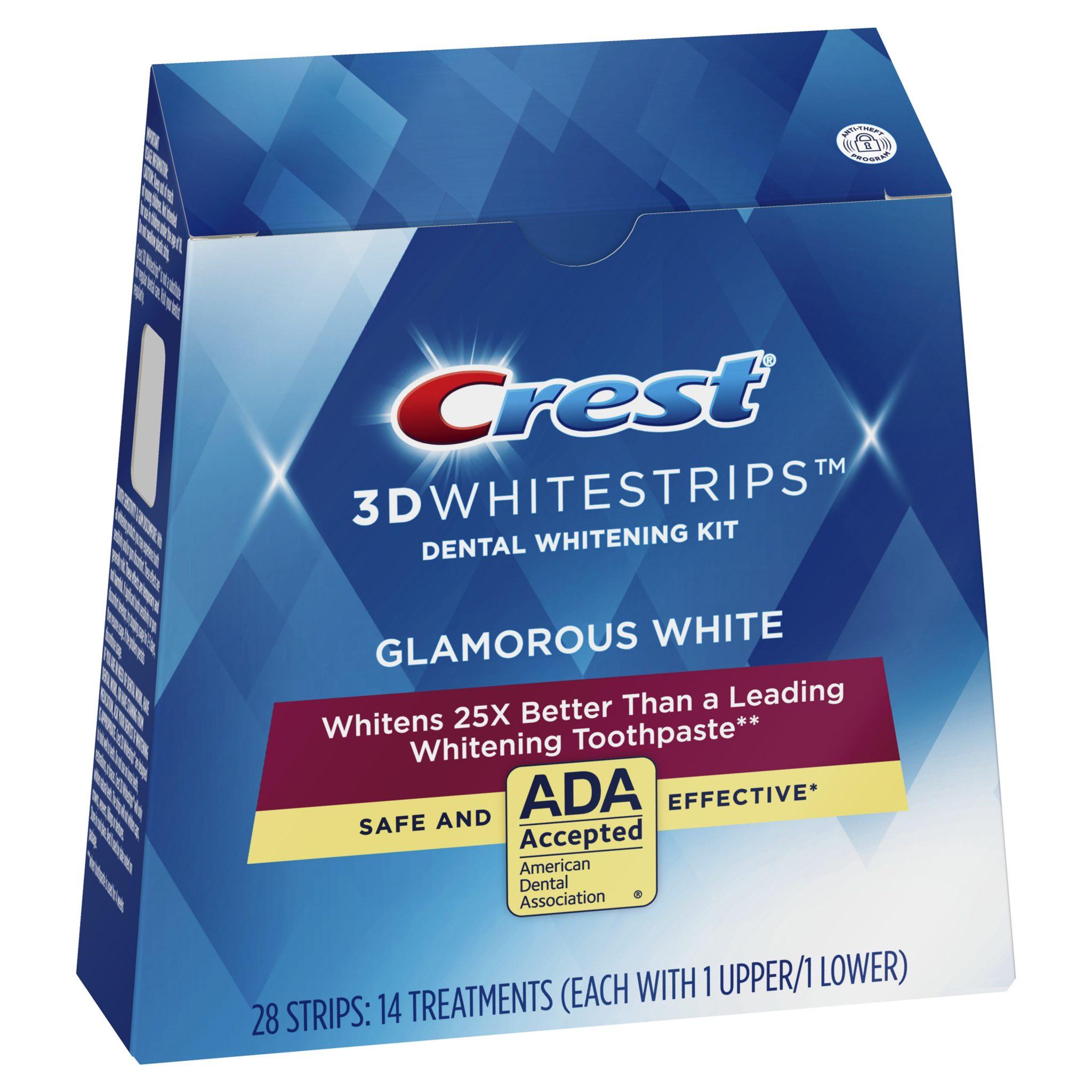 Bieliace pásiky Crest 3D Glamorous White