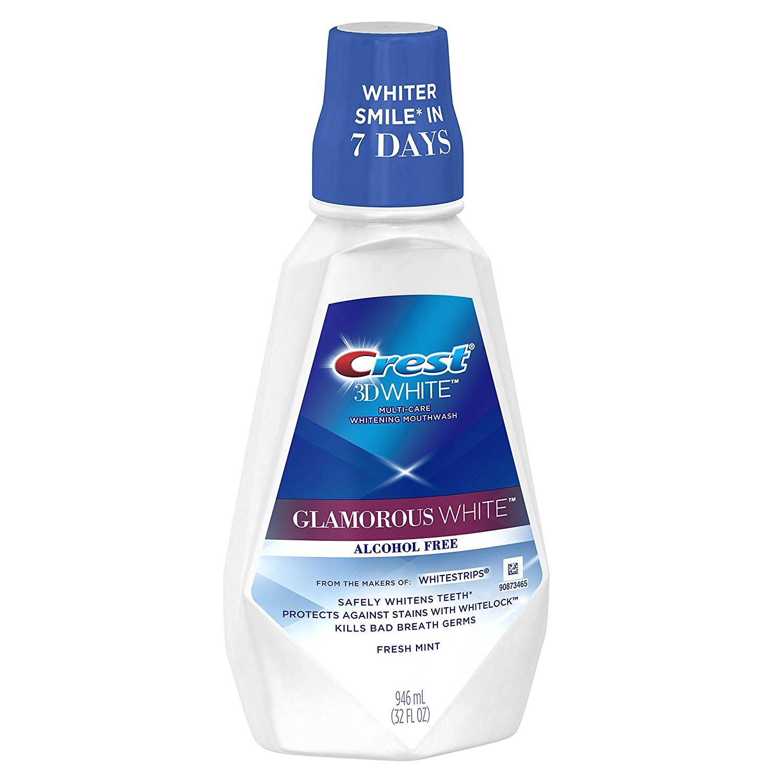 bieliaca ústna voda Crest Glamorous white