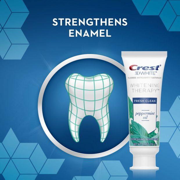 Bieliaca zubná pasta Crest 3D Whitening Therapy PEPPERMINT OIL
