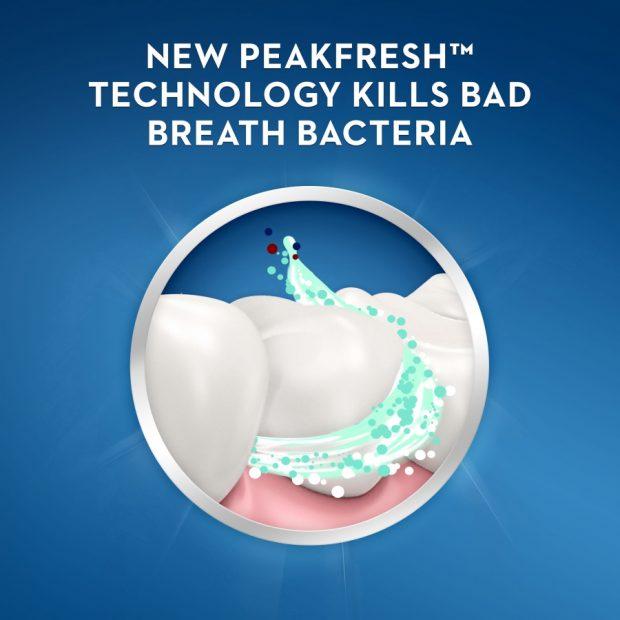 Bieliaca zubná pasta na zápach z úst Crest BRILLIANCE BLAST