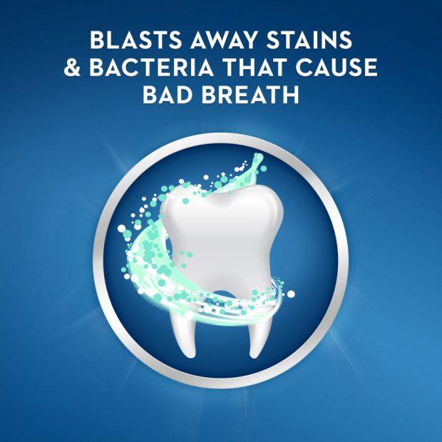 Bieliaca zubná pasta proti zápachu z úst Crest BRILLIANCE BLAST