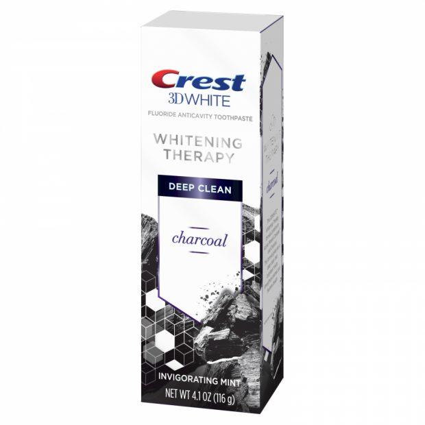 Bieliaca zubná pasta Crest charcoal s uhlím