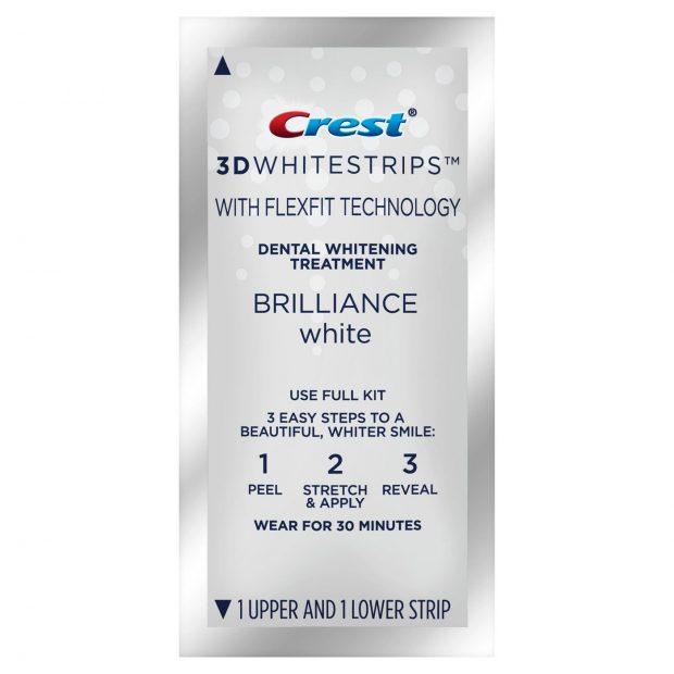 Bieliace pásiky Crest 3D BRILLIANCE White sáčok