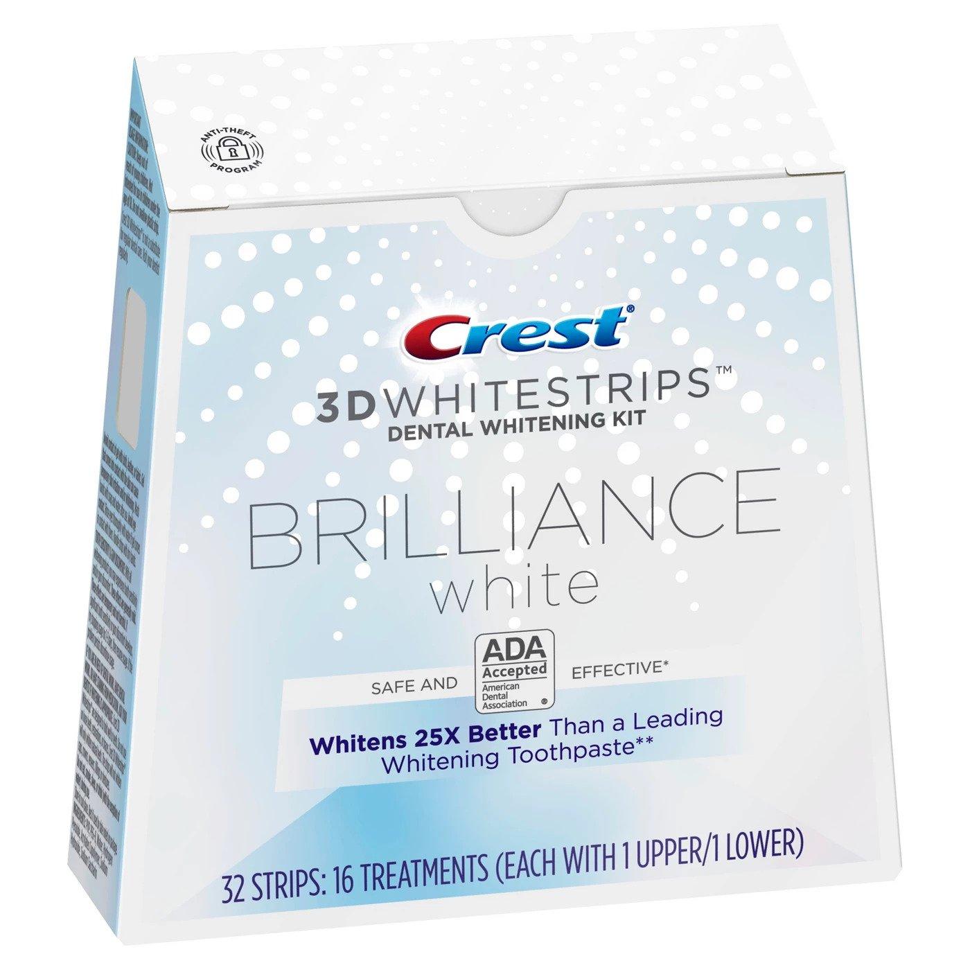 Bieliace pásiky Crest Brilliance white