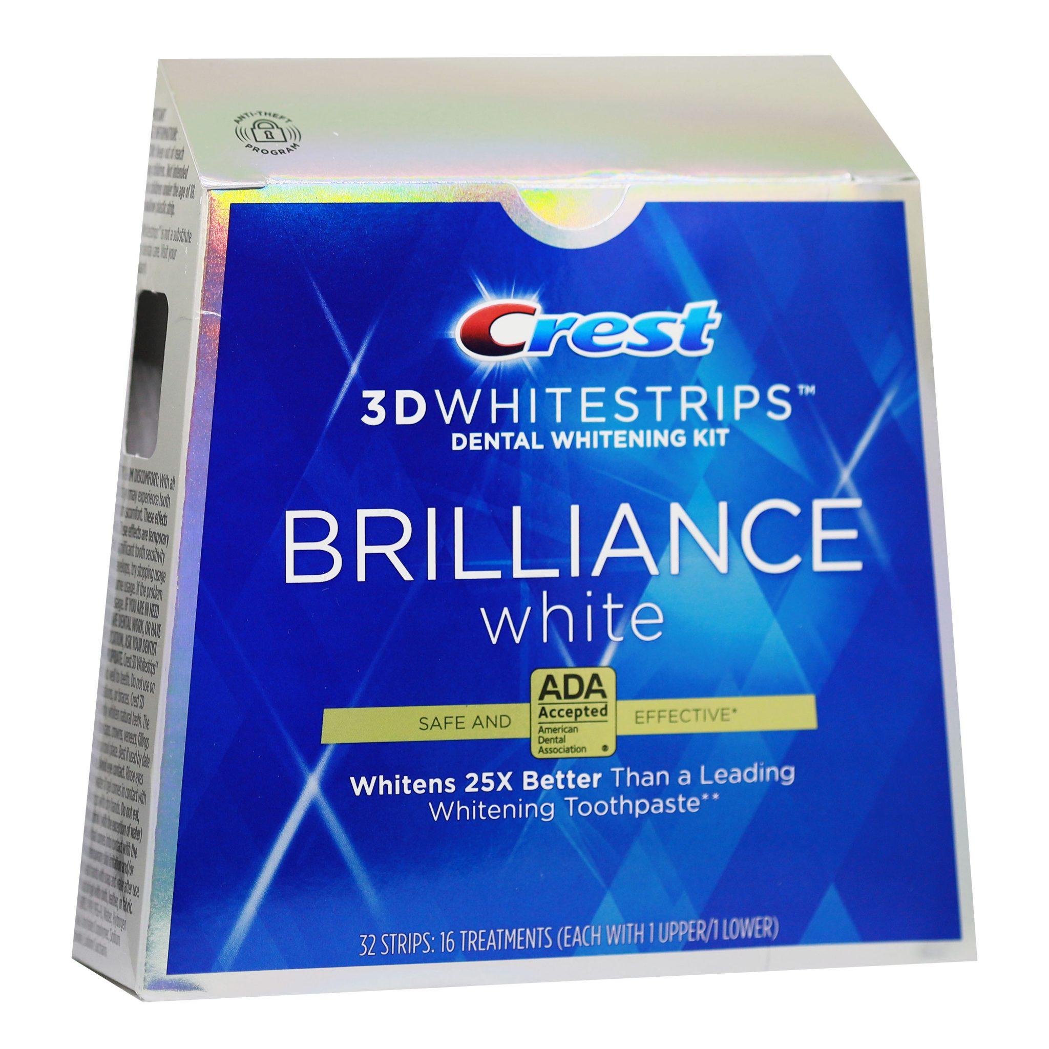 Bieliace pásiky Crest 3D BRILLIANCE White