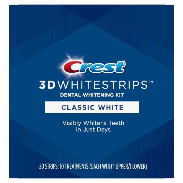 Bieliace pásiky Crest Classic white