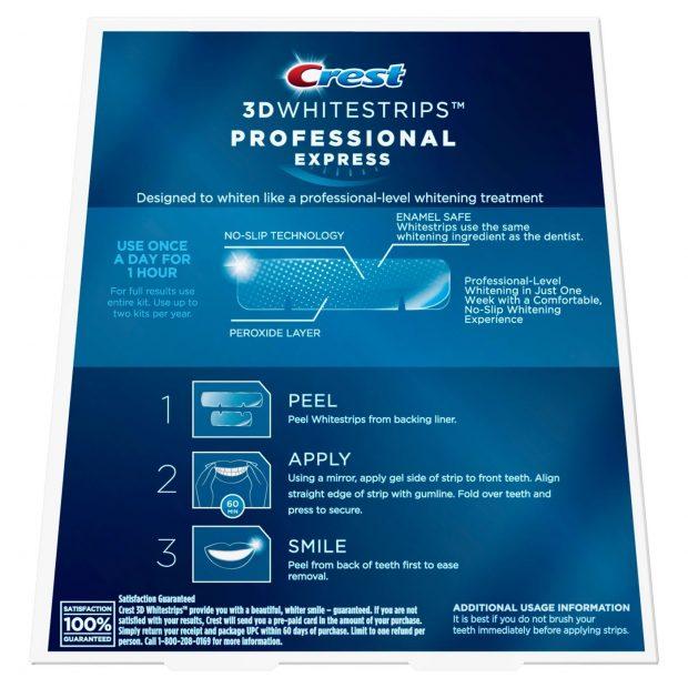 Bieliace pásiky Crest professional effects návod na použitie