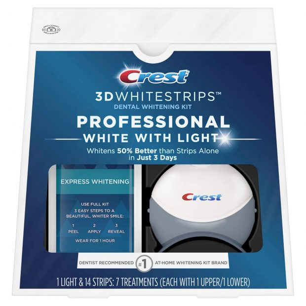 Bieliace pásiky Crest professional white so svetlom