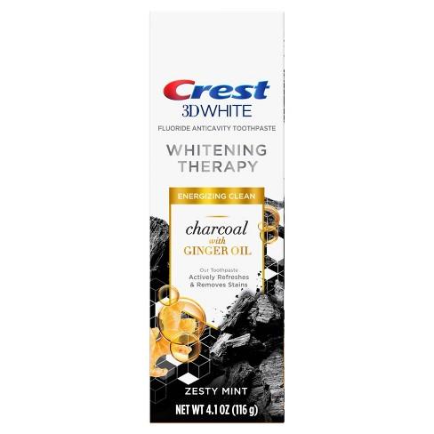 Čierna bieliaca zubná pasta Crest 3D WHITE CHARCOAL Ginger Oil