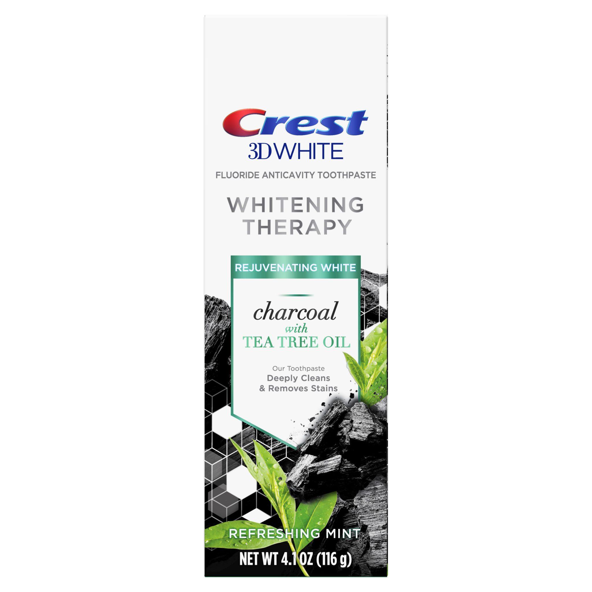 Čierna bieliaca zubná pasta Crest 3D WHITE CHARCOAL Tea Tree Oil